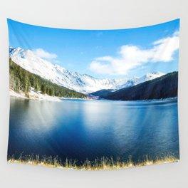Clinton Gulch // Day Light Mountain Lake Forest Snow Peak Landscape Photography Hiking Decor Wall Tapestry