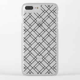 Simply Mod Diamond Black and White Clear iPhone Case