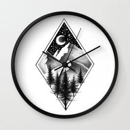 NORTHERN MOUNTAINS III Wall Clock
