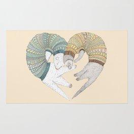 Ferret Sleep Love Rug