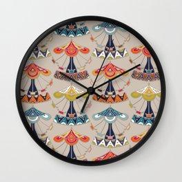 carousel damask Wall Clock
