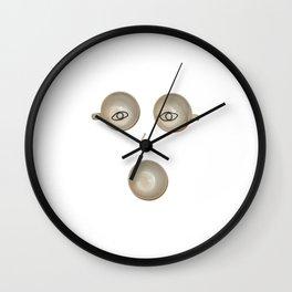 Funny and weird Mug Face Wall Clock