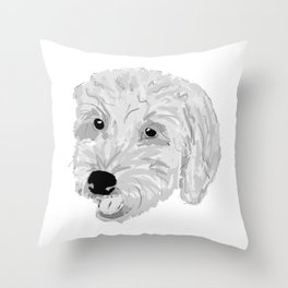 Goldendoodle Puppy Dog Throw Pillow