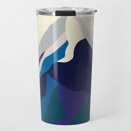 Mount Everest in Blue Travel Mug