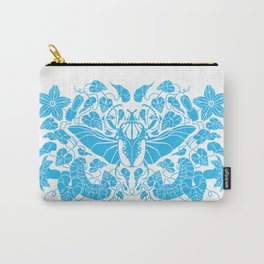 Beetle Bloom Blue Carry-All Pouch