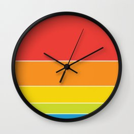 Pride: Rainbow Sunset Wall Clock