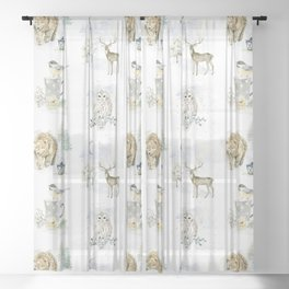 Christmas Morning 3 Sheer Curtain