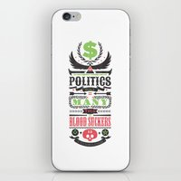 politics iPhone & iPod Skins featuring Politics = Many Blood Suckers by Wharton