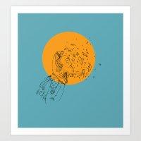 third eye Art Prints featuring Third Eye by Matt Smith