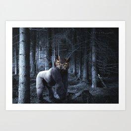 Gorillowl Art Print