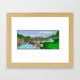 Golf Course Framed Art Print