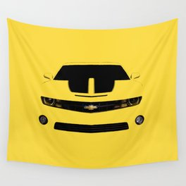 yellow car Wall Tapestry