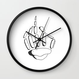 Skeleton Middle Finger Wall Clock
