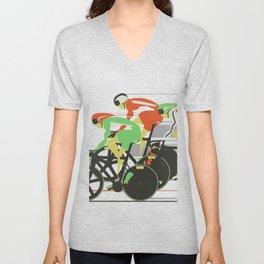 Velodrome Bike Race Unisex V-Neck