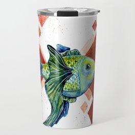 Gold Fish Travel Mug