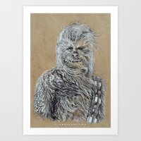 chewbacca Art Prints featuring Chewbacca by liam nicholson