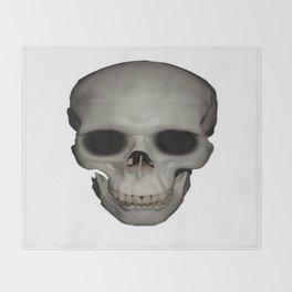 Human Skull Vector Isolated Throw Blanket