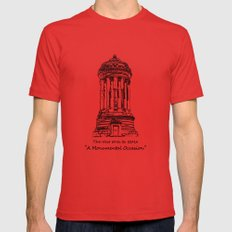 Monument 2 Mens Fitted Tee LARGE Red