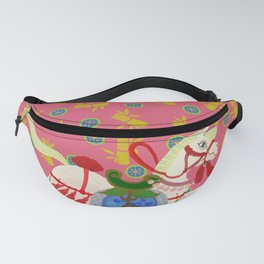 Colourful Animal Horse Decoration Patterns Fanny Pack