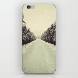 Avenue during a snowing. iPhone Skin