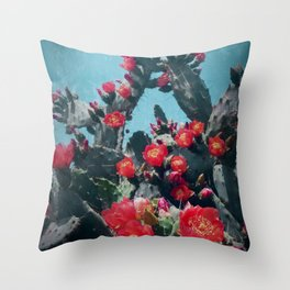 Cacti in Bloom n.1 Throw Pillow