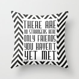 Zigzag pattern (friendship quote) Throw Pillow