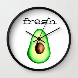 Fresh Avocado fr e sh a voca do Wall Clock