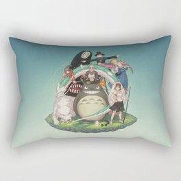 Ghibli: Bliss in Light Rectangular Pillow