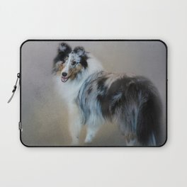 Did You Call Me - Blue Merle Shetland Sheepdog Laptop Sleeve