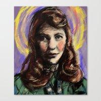 sylvia plath Canvas Prints featuring St. Sylvia Plath by Buttons McTavish