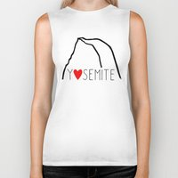 yosemite Biker Tanks featuring Yosemite Love by Forgeron Studios