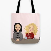 swan queen Tote Bags featuring SWAN QUEEN by Yael's Colors