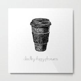 Coffee Doodle Metal Print