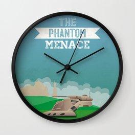 The Phantom Menace Wall Clock
