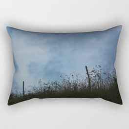 Backlight on the field Rectangular Pillow