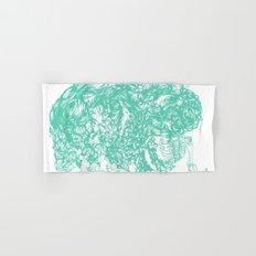 teal hair thick Hand & Bath Towel