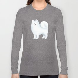Samoyed Pattern (Blue Background) Long Sleeve T-shirt