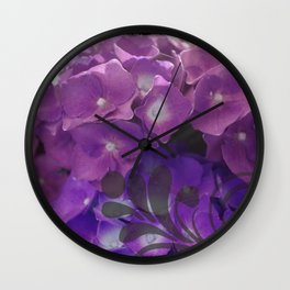 Purple Swirl Hydro Wall Clock