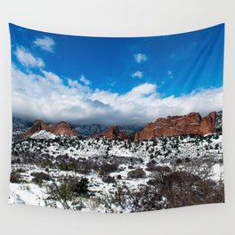 Garden of the Gods in Snow Wall Tapestry