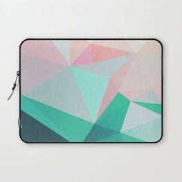 Geometric Landscape - Pink and Green Laptop Sleeve