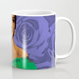 Maria Callas Stenciled Indigo Coffee Mug