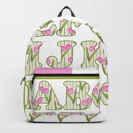 Children's alphabet . A colorful pattern for children .  № 1 Backpack