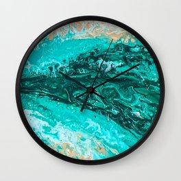 Waves in Key West Wall Clock