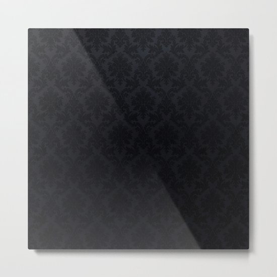 Black damask- Elegant and luxury design Metal Print