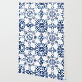 blue garden mandala Wallpaper