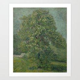 Horse Chestnut Tree in Blossom Art Print
