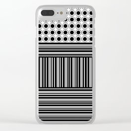 Circles and Barcode Clear iPhone Case