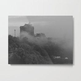 Niagara In Mist Metal Print