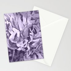 Painted Peony Sepia Lavender Stationery Cards