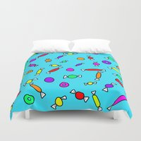 candy Duvet Covers featuring Candy by Beyond Infinite